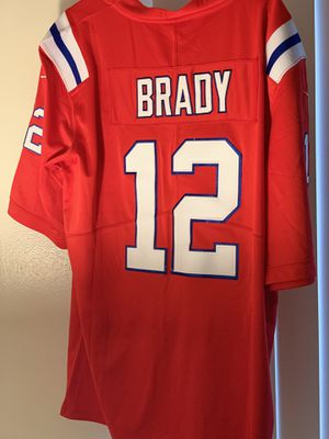 Tom Brady #12 Jersey New England Patriots throwback Red Limited jersey for Sale in East Providence, RI