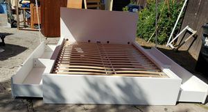 Ikea Queen bed with drawers for Sale in Los Angeles, CA