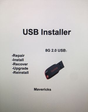 MacOS X Bootable USB Mavericks 10.9 for Sale in Spicewood, TX