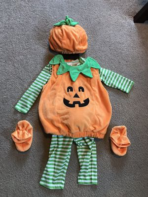 Baby pumpkin costume, size 12-18 month for Sale in Villa Park, IL