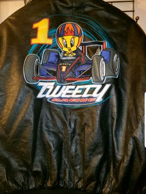 XL Vintage Leather Looney Tunes Jacket for Sale in West Haven, CT