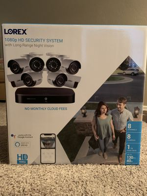 Lorex - 8-Channel, 8-Camera Indoor/Outdoor Wired 1080p DVR Surveillance System - Black/White for Sale in Tempe, AZ