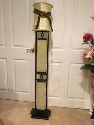 Marble and black steel floor lamp for Sale in Columbia, MD