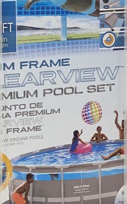 Intex 16ft x 48in Clearview Prism Above Ground Swimming Pool with Pump for Sale in Conyers,  GA