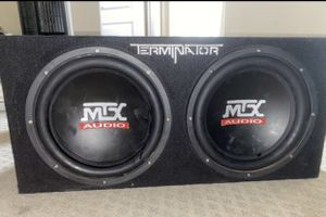 "Two 12"" Subwoofer with 1800 watt Amp for Sale in Scottsdale, AZ"
