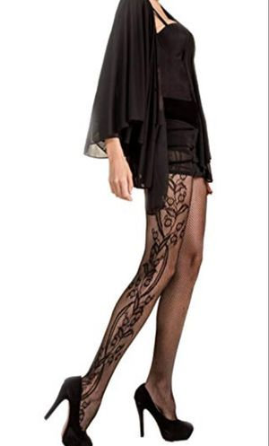 Whimsical Floral inset Killer Legs Fishnet Pantyhose for Sale in El Cajon, CA