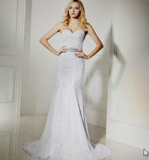 Size 10, 18W; Lace Mermaid Wedding Dress for Sale in Lewisville, TX