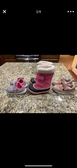 Nike free 7c 8c girls Sorel shoes boots for Sale in Hillsboro, OR
