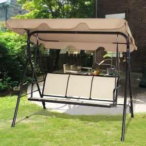 New in box $90 each 528 lbs capacity porch swing bench chair with canopy sun shade sun blocker for Sale in Whittier, CA