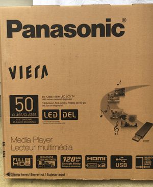 panasonic viera 50 inch plasma tv BRAND NEW IN BOX for Sale in Raleigh, NC