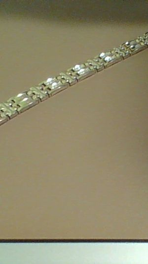 Gold Bracelet With 18 Diamonds In Rows Of 3 24k for Sale in Columbus, OH