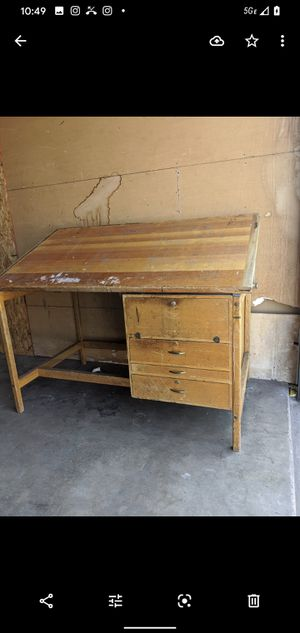 Drafting wood table - lots of history on this piece for Sale in Downey, CA