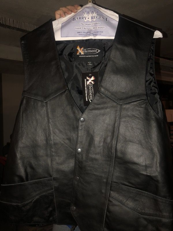 4xl motorcycle leather vest