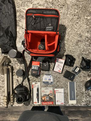 Canon rebel t6 bundle for Sale in Citrus Heights, CA