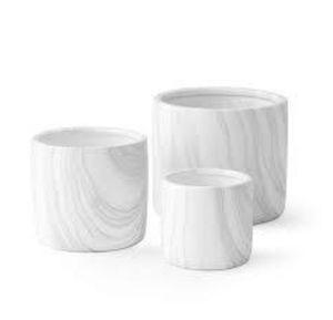 Set of 3 White Ceramic Planter Pots by Dodoko – for Sale in Peoria, AZ