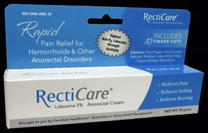 Recticare - 5% Lidocaine Cream - Numbs Pain, Itching, Burning NEW SEALED for Sale in San Diego, CA