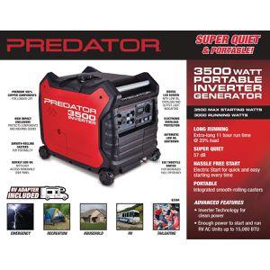Predator Super Quiet & Portable Generator for Sale in Falls Church, VA