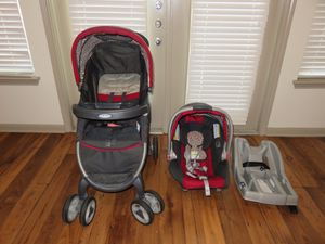 Graco fast action fold Car Seat and stroller for Sale in Austin, TX