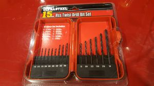 New 15 piece ultra steel Drill bit set. Great gift for handy person. Retail at $20. for Sale in Long Beach, CA