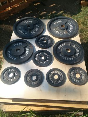 200 Lbs of Olympic size weight plates. $110 for Sale in Compton, CA