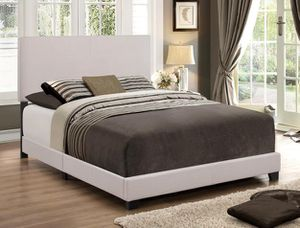 New in Box Queen Size Erin Complete Bed ONLY (Tan) for Sale in Durham, NC