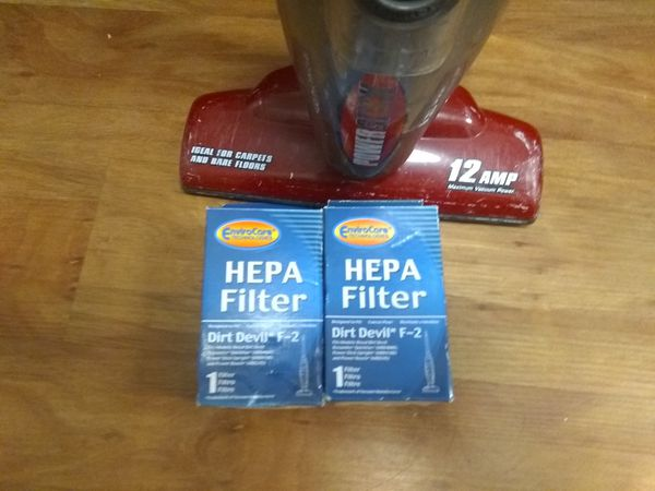 Dirt devil with new HEPA filters