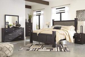 Reyloowew Dark Brown Poster Bedroom Set | for Sale in Falls Church, VA