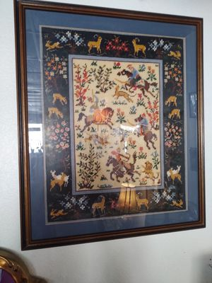 Large embroidery wall art for Sale in NO FORT MYERS, FL