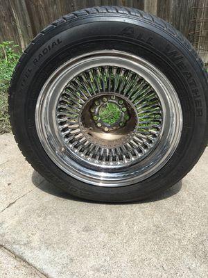 Chrome Rims / Set of 4. P195/60R15 for Sale in Lincoln, NE