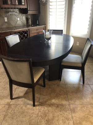 Designer walnut veneer dining table for Sale in Phoenix, AZ