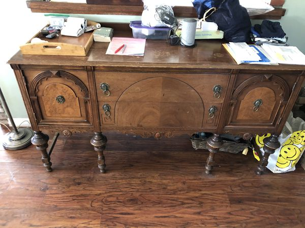 Antique Wood Hutch/ TV Stand / China Storage