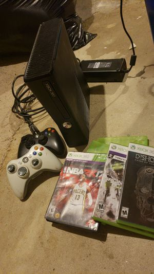 Xbox 360 with games and 3 controllers for Sale in Philadelphia, PA