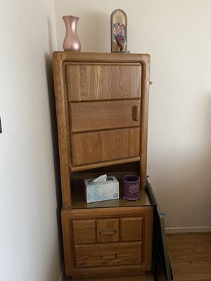 Unique corner drawer bedroom set (2 pieces available!) for Sale in South San Francisco, CA