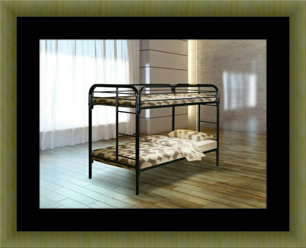 Twin bunkbed frame with mattress