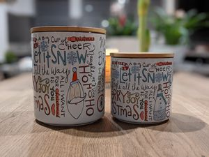 Let it snow 🌨️ two ceramic Christmas jars for Sale in Pleasant Hill, CA