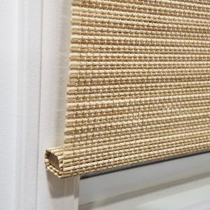 Home Decorators Collection Cut-to-Size Natural Cordless Light-Filtering UV Protection Bamboo Shades 22 in. W x 48 in. L for Sale in Dallas, TX