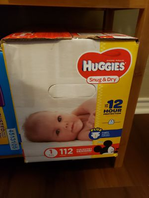 3 boxes of Huggies/pull ups various sizing for Sale in Niederwald, TX