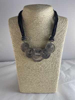 Chico's black/silver tone boho steam punk necklace for Sale in Clackamas, OR