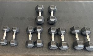 Dumbbells Set 10lbs,15lbs,20lbs,25lbs,30lbs (total of 200lbs) for Sale in Beverly Hills, CA