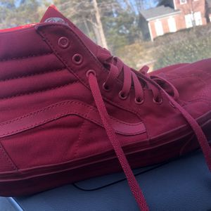 All red Hi Sk8 Vans sz 13 for Sale in Raleigh, NC