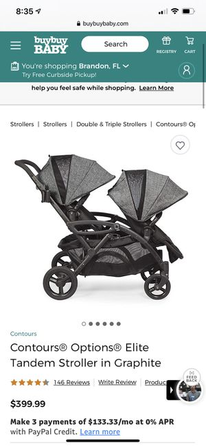Contours Options Elite double/tandem stroller for Sale in Tampa, FL