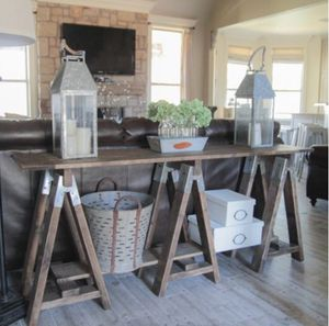 Sawhorse console table for Sale in Pittsburgh, PA