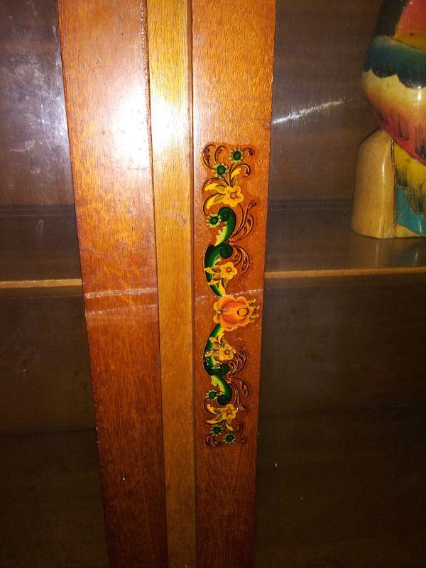Antique Hand Built Serpentine Hutch