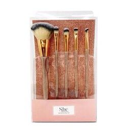S.HE MAKEUP 5PC COMPLEXION BRUSH COLLECTION GOLD for Sale in El Mirage, AZ