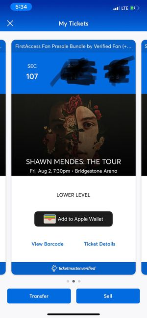 Shawn Mendes Tickets for Sale in Nolensville, TN