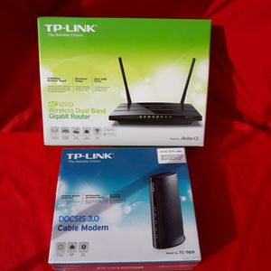 TP-Link Cable Modem and Router Price for both for Sale in Murphy, TX