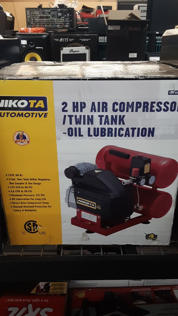 NIKOTA AIR COMPRESSOR 4GAL DUALTANK