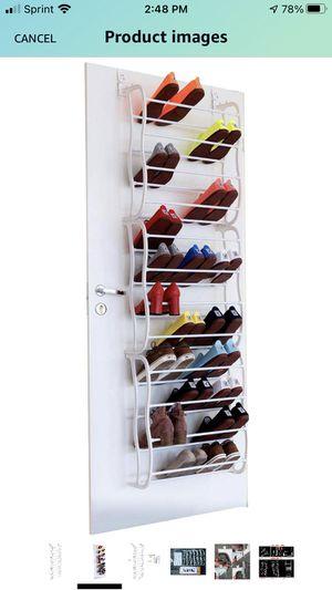 Over The Door Shoe Rack Holder - 36 Pairs - Storage Shoe Organizer - White for Sale in Farmington Hills, MI