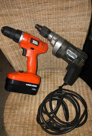 Black and Decker Professional Wireless and Corded Drill Set for Sale in Vancouver, WA