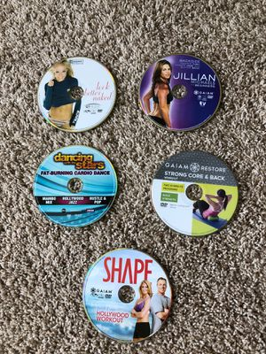 Exercise DVDs - 2 for $10 or whole bundle for $20 for Sale in Rochester Hills, MI